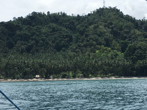 View from the boat to the beach side