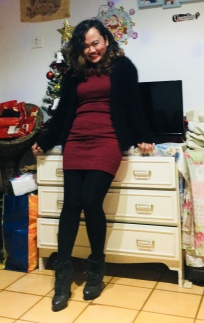 Christmas partying with this dress!