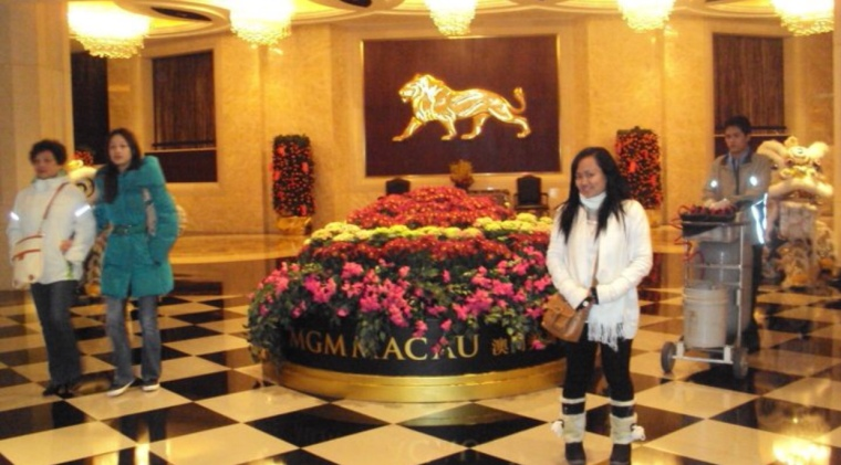 Inside the mgm Macau