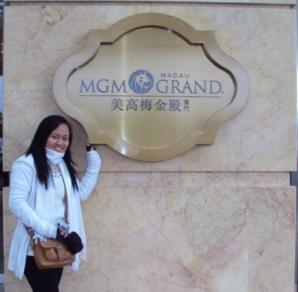 We went to the MGM grand Macau